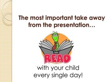 Supporting Literacy Development - Parent Night Presentation