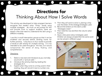 "Supporting Students to Use Multiple Strategies When Solving ""Tricky"" Words"
