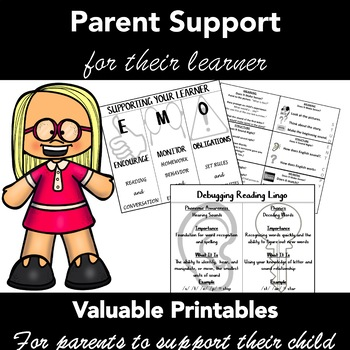 Teacher Conference Handouts  -Supporting Your Learner - Primary Grades