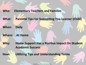 Parent Teacher Conference Handout  for Reading Support - Primary Grades