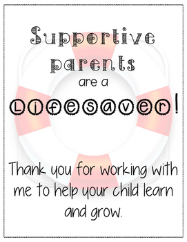 Supportive Parents are a Lifesaver