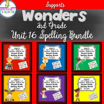 Supports Wonders 2nd Grade Spelling Cards