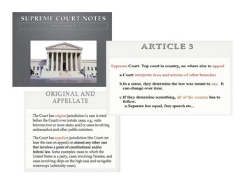 Supreme Court & Judicial Branch Bundled Unit