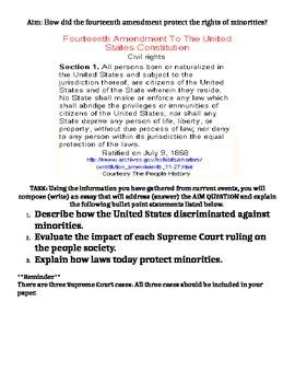 Supreme Court Case-14th Amendment