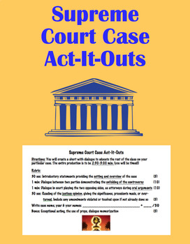 Supreme Court Case Act-It-Outs