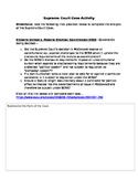Supreme Court Case Activity--1st Amendment-Citizens United v. Fed. Election-2010
