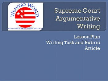 Supreme Court Case Study with Argumentative Writing on Morse v. Frederick