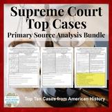 Supreme Court Case Document Analysis Activity BUNDLE of 10