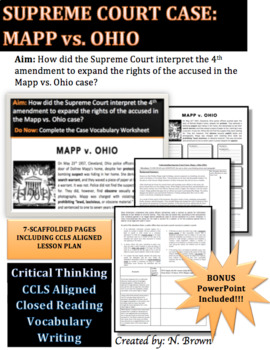 Supreme Court Case: Mapp vs. Ohio