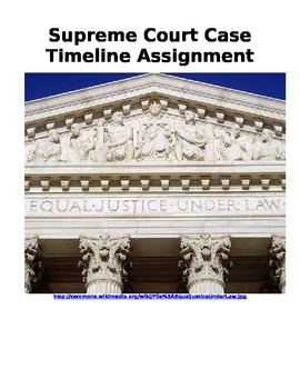 Supreme Court Case Timeline Assignment