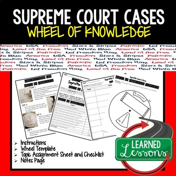 Supreme Court Cases Activity, Wheel of Knowledge