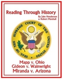 Supreme Court Cases: Miranda, Mapp, and Gideon