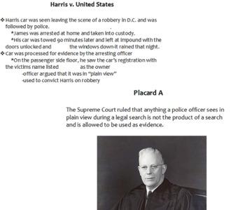 Supreme Court Cases Placard Activity