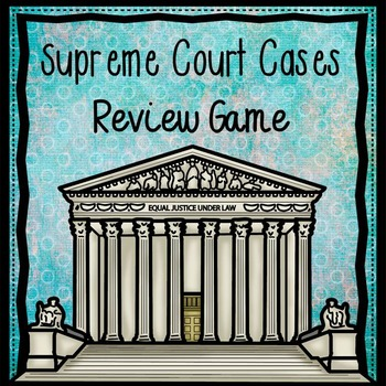 Supreme Court Cases Review Game