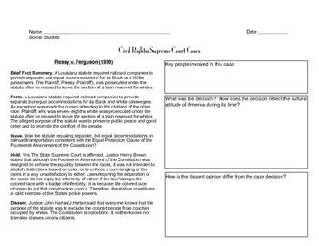 Supreme Court Cases of the Civil Rights Movement Graphic O