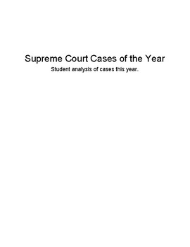 Supreme Court Cases of the Year