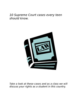 Supreme Court Cases students should know