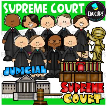 Supreme Court Clip Art Bundle {Educlips Clipart}
