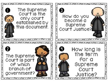 Supreme Court Facts Write the Room Activity