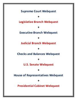Supreme Court, Judicial, Executive, Legislative, Senate, House of Rep + More