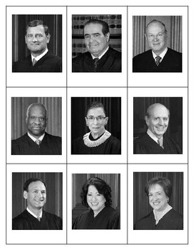 Supreme Court Justices Trading Cards-Updated