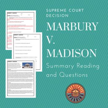 marbury and madison summary