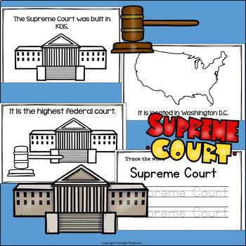Supreme Court Mini Book for Early Readers: American Symbols