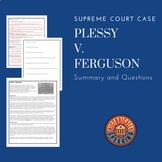 Supreme Court:  Plessy v. Ferguson