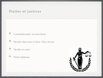 Supreme Court & Judicial Branch PowerPoint