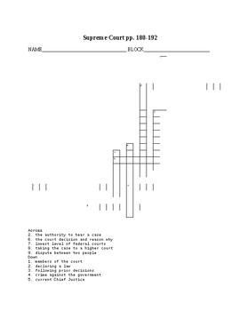 Supreme Court Puzzle