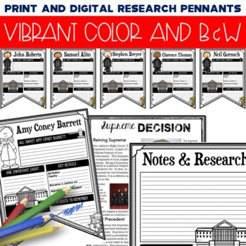 Supreme Court Research Pennants: Writing Activity