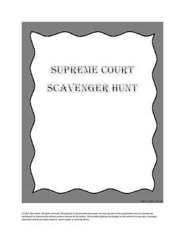 Supreme Court Scavenger Hunt Web Activity
