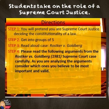 Supreme Court Simulation – Should Woman Be Drafted? (Judicial Review)