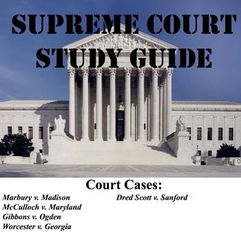 Supreme Court Study Guide