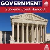 Supreme Court Handout   US Government