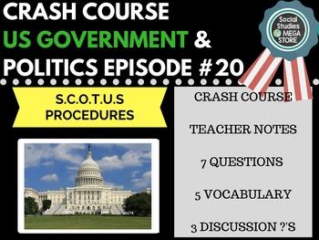 Supreme Court of the United States Procedures: Crash Course Govt. & Politics #20