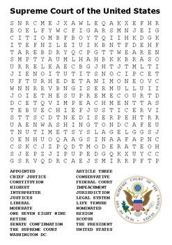 Supreme Court of the United States Word Search