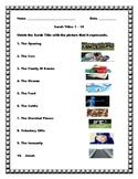 Surah Titles 1 - 10