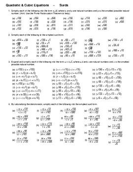 Algebra -- Surds