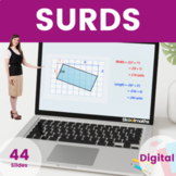 Surds - 9th - 10th grades, (UK GCSE Higher)