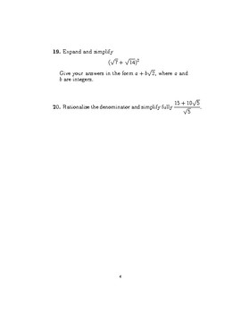 Surds (worksheet with detailed solutions)