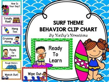 Beach/Surf Behavior Clip Chart