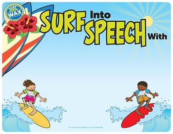 Speech Therapy Editable Door Sign (Surfing Themed)