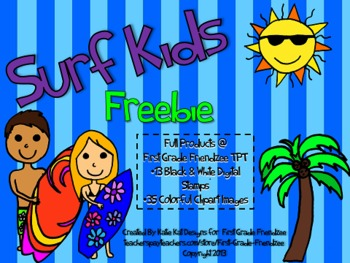 Surf Kids Clipart Freebie