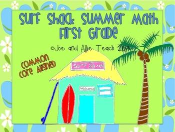 Surf Shack Summer Math - First Grade Common Core