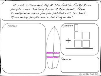 Surf Shack Summer Math - Second Grade Common Core