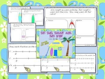 Surf Shack Summer Math - Third Grade Common Core
