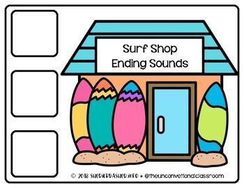 Surf Shop Ending Sounds    Phonics   Literacy