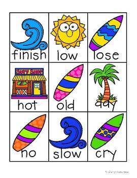 Surf Shop Kiddos / Summertime: Antonyms Match Center (Basic)