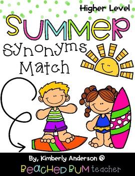 Surf Shop Kiddos / Summertime: Synonyms Match Center (Harder)